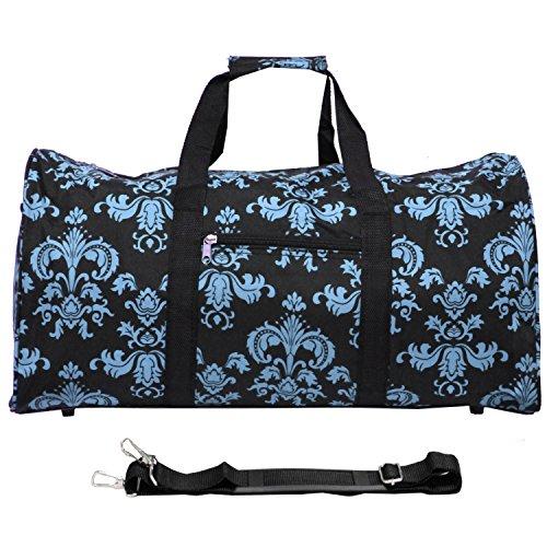 World Traveler Value Series Damen Reisetasche, 55,9 cm, leicht, Gänseblümchen-Design, Braun, Damast schwarz blau (Mehrfarbig) - 811022-633