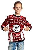 Kinder Weihnachtspullover Eisbär
