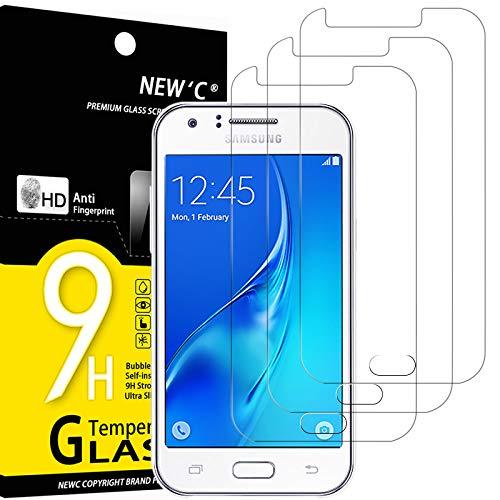 NEW\'C 3 Stück, Schutzfolie Kompatibel mit Samsung Galaxy J1 Mini panzerglasfolie, Frei von Kratzern, 9H Härte, HD Displayschutzfolie, 0.33mm Ultra-klar, Ultrabeständig