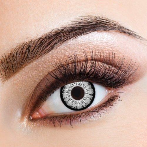 aricona Kontaktlinsen Farblinsen Natürliche farbige Kontaktlinse Gray Enchants – Jahreslinsen für helle Augenfarben, ohne Stärke, Farblinsen als Modeaccessoire für den täglichen Gebrauch