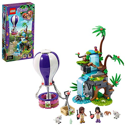 LEGO Friends Tiger Hot Air Balloon Jungle Rescue 41423 Friends Adventure Set Features a Toy Hot Air Balloon Friends Buildable Figures for Hours of Creative Fun, New 2020 (302 Pieces)