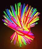 Knicklichter Leuchtstäbe 100 Stücke mit Verbinder Farbmix über 10 Stunden