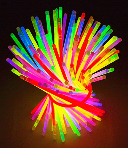 Glow Sticks Bulk Party 100 pcs 8' Glow in The Dark Party Supplies Light Sticks for Neon Party Glow Necklaces and Bracelets for Kids or Adults