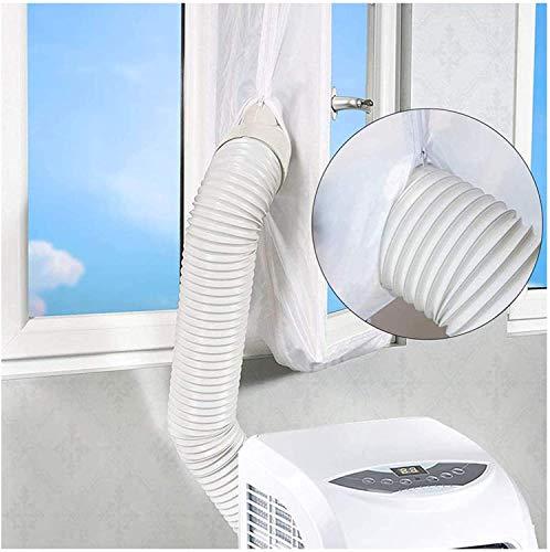 Buycitky 400CM Guarnizione Finestra Condizionatore Portatile, Universale Guarnizione Condizionatore Cloth Impermeabile , Doppia Cerniera, Facile da Montare (400cm)