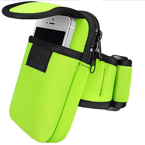 dljztrade Nuttige Outdoors Arm Band Case Hook Loop Belt Pouch Bag Sport Portemonnee Mobiele Telefoon Tas (1st)