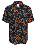 Only & Sons Onsgabrial SS Animal Viscose Shirt Camisa, AOP: Fish Print Black, XL para Hombre