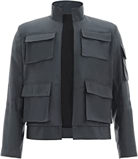 CosplayDiy Men's Jacket for Star Wars Han Solo Cosplay Gray