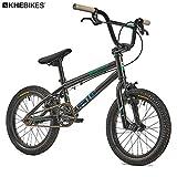 KHE Lenny SE - Bicicleta BMX de 16 pulgadas, color negro, solo 9,8 kg