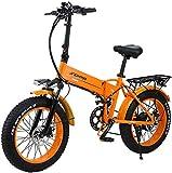 Bicicleta eléctrica de nieve, Playa y nieve plegable bicicleta eléctrica, de 20 pulgadas de Big Fat Tire 48V500W, batería de litio 12.8AH, varón adulto de bicicletas de montaña Off-Road Batería de lit