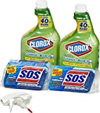 Clorox Clean-Up Bleach Cleaner Spray and S.O.S All Surface Scrubber...