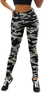 cinnamou Damenhosen cinnamou Frauen Hüften schlanke Camouflage Bedruckte Yogahosen mit Leggings,Frauen hohe Taille Yoga Hosen Bauch Kontrolle Abnehmen Gamaschen Leggings Strumpfhosen