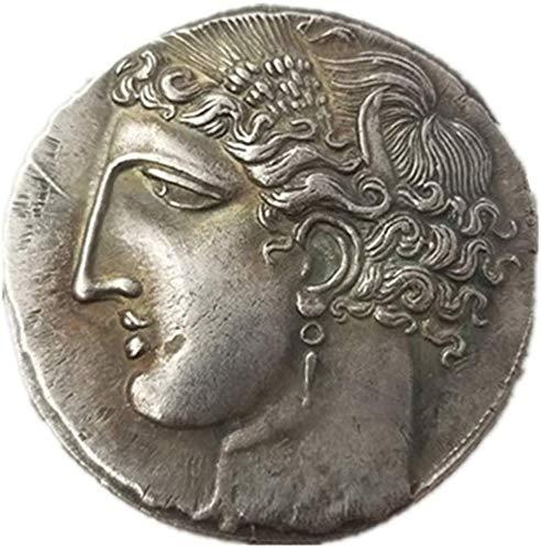 LJIE Gedenkmünze Altgriechisch Tianma Münzen Antike Münzen Geschenkideen Münze, Silber überzogene 40MM