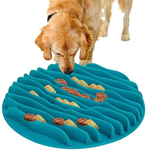 WWXX Comedero Perro Gato,Antideslizante Alimentacion Plato Alimentador Tazon Comedero For Mascotas Bebedero,para Perros Pequeño, Mediano Y Grande (Color : Blue)