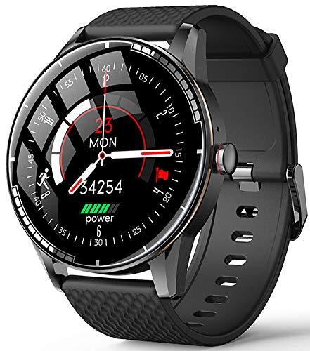 YGMDSL Smart Watch Reloj Inteligente Fitness Tracker Smartwatch Pulsera Smartwatch Bandas Deportes Smartwatch Smart Watch Hombres Bluetooth Llamada Música Actividad Fitness Tracker (B)