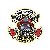 YDCCYQ Autocollant De Voiture 13,9 Cm * 13,9 Cm Drôle Pompier Volontaire...