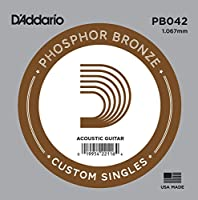 D'Addario ダダリオ アコースティックギター用バラ弦 フォスファーブロンズ .042 PB042 【国内正規品】