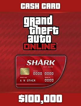 Grand Theft Auto V  G Red Shark Cash Card - PS4 [Digital Code]