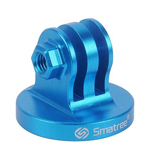 Smatree Trípode De Aluminio Adaptador De Montaje para GoPro Session, Hero 10,9,8,7,6,5,4,3,2,1, dji OSMO Cámara de acción (Azul)