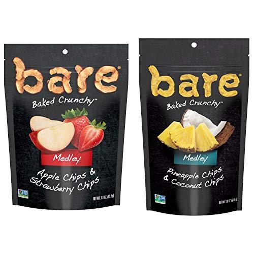 bare Baked Crunchy Medleys, 2 Flavor Single Serve Variety, (6 Pack)