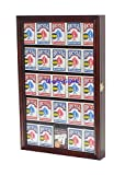 The Playing Card Frame - 25 Deck Acrylic Playing Card Display by Collectable Playing Cards by Collectable Playing Cards (Mahogany)