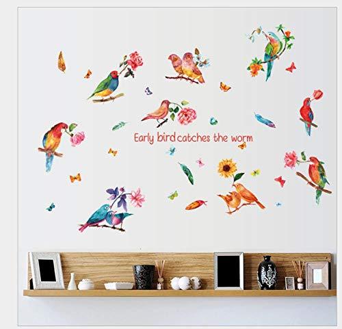 Pegatinas De Pared Decorativas Alondra Dormitorio Sala De Estar Pasillo Sofá Fondo Pegatina De Pared Autoadhesivo Mural Extraíble 60 * 90 Cm