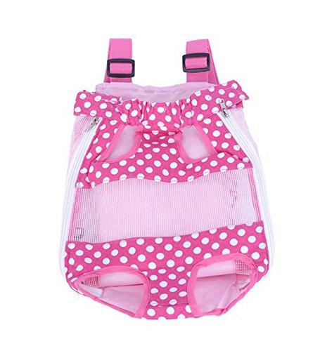 Mignon Sac à dos avant Portable Carrier Bag For Pets ROSE A (2.5-4kg)