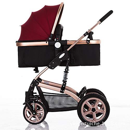 Poussette pour bébé - Poussette pour berceau convertible compacte simple pour bébé poussette pour siège d'enfant en bas âge poussette de landau de luxe ajouter un support de tasse Chancelière
