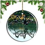Weekino Le PUY-Sainte-Reparade Francia Chateau La Coste en Provence Decoración de Navidad Árbol de Navidad Adorno Colgante Ciudad Viaje Colección de Recuerdos Porcelana 2.85 Pulgadas