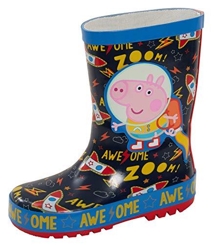 Peppa Pig George Pig Astronauta 3D Botas de goma Wellington para niños, lluvia y nieve, color, talla 25 EU