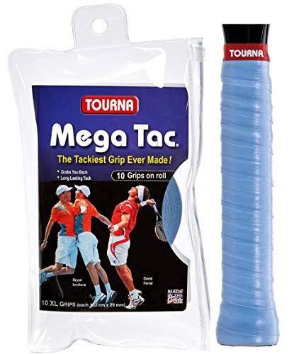 Unique Overgrip Mega TAC 10er - Mango de Raqueta de Tenis, Color Azul, Talla Standard