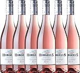 6er Weinpaket Rosé - Horgelus Rosé IGP 2018 - Domaine Horgelus mit VINELLO.weinausgießer | Sommerwein | französischer Roséwein aus der Gascogne | 6 x 0,75 Liter