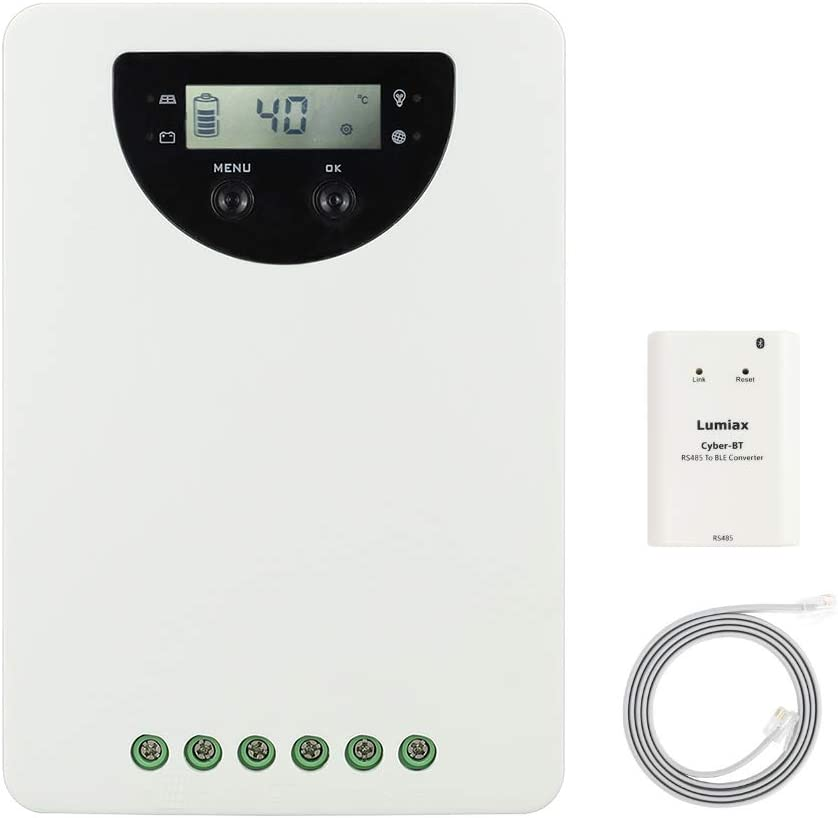 PowMr Recommended 40Amp 12V 24V Auto Elegant MPPT Input Controller Max Charge Solar