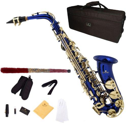 Cecilio AS-280BL - Kit de saxofón alto (para nivel principiante), color azul