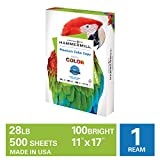 Hammermill Premium Color Copy 28lb Paper, 11x17, 1 Ream, 500 Sheets, Made in USA, Sustainably Sourced From American Family Tree Farms, 100 Bright, Acid Free, Premium Color Copy Printer Paper, 102541R