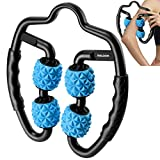 Maloow Muscle Roller, Trigger Point Massager Roller Tool for Muscle Relief, Deep Tissue Massage Tool for Tennis Elbow Treatment for Athletes, Massage Stick for Forearm, Hand, Arm, and Leg (Blue)