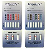 5 Pack Identify Diagnostics 12 Panel Drug Test Dip - Testing Instantly for 12 Different Drugs THC, COC, MOP, OXY, MDMA, BUP, AMP, BAR, BZO, MET, MTD, PCP ID-CP12-DIP (5)