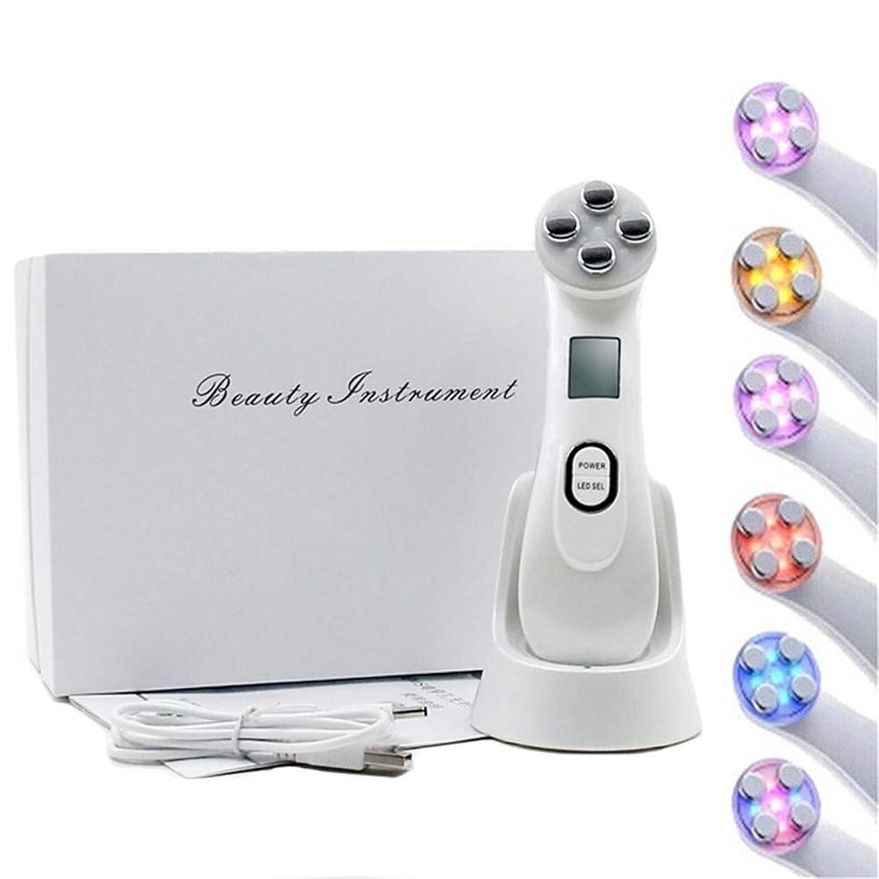 おばあさん信者摂動フェイススキンEMSメソセラピーエレクトロポレーションRFラジオ周波数フェイシャルLEDフォトンスキンケアデバイスフェイスリフトは、美容機器を締めます