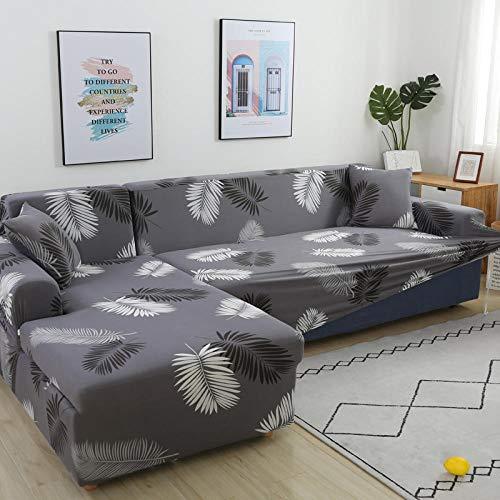 Funda Extensible para sofá Funda Protectora para sofá,Funda de sofá Suave para Sala de Estar, Funda de sofá elástica en Esquina, Color 3_1pc 3 Asientos 190-230cm,Liso para Sofá Antideslizante