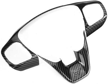 Meizi 1 Satz Abs Carbon Faser Auto Lenkrad Ordnungs Steuerknopf Rahmenabdeckung Zubehör Gepasst For Ford Fiesta St Mk8 2017 2018 2019 Color Name Black Küche Haushalt