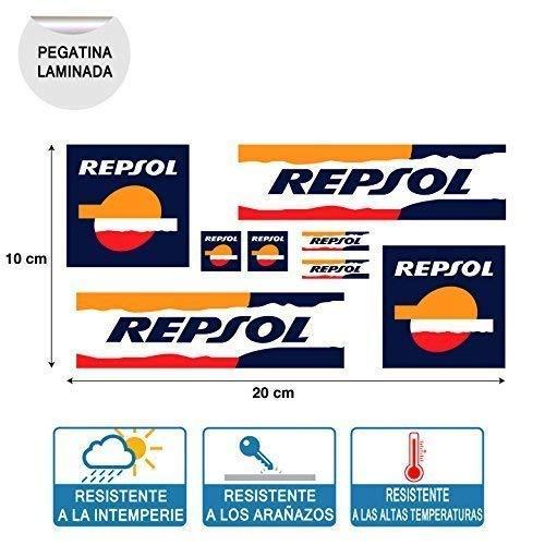 Aufkleber Kleber Repsol Print Digital Hochwertig Laminat Blätter (20 cm X 10 cm) 8 Einheiten