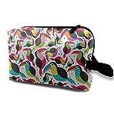 Tucan Birds colorida bolsa de cosméticos portátil adorable y espaciosa bolsas...