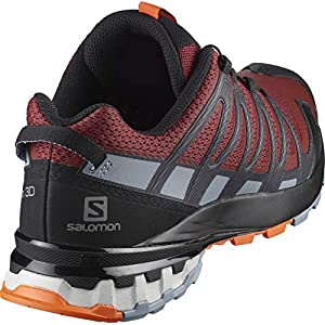 Salomon Men's XA PRO 3D v8 Trail Running, Madder Brown/Ebony/Quarry, 9.5