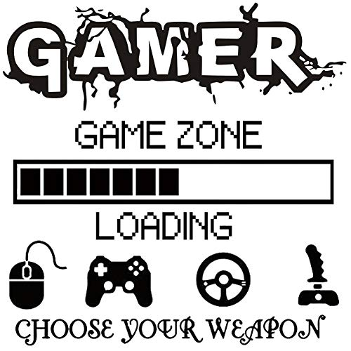 BAIBEI 3Pcs Game Zone Wandtattoo, Game Zone Laden Wandaufkleber, Wandbild Jungen Spielzimmer Wand, Wand-Dekor Gamer Dekorationen für Zuhause