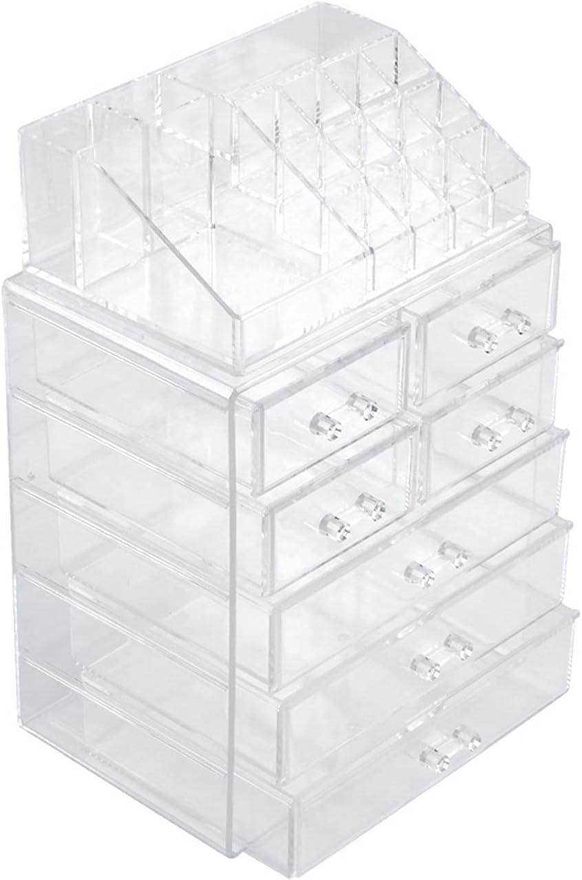 WFY Cosmetic New arrival Storage Box 2Pcs Set Plastic Ra Cosmetics San Diego Mall