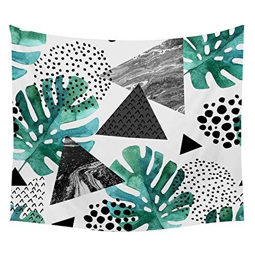 KHKJ Tapiz de Pared de Tela con patrón de Planta Tropical, Tapiz artístico de Mandala con Hoja, Manta, Toalla de Playa, Tapiz de Pared para Yoga, A4 200x150cm