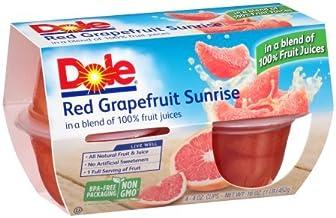 Dole Fruit Bowls, Red Grapefruit Sunrise in 100% Fruit Juice, 4oz, 24 cups