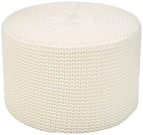 AmazonBasics Knit Foam Floor Pouf Ottoman, Ivory