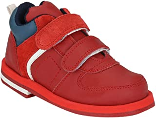 Hopscotch Tuskey Shoes Boys Leather  Ankle Length Boot in Red Color