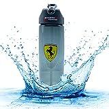 Ferrari Scuderia - Botella deportiva (700 ml, sin BPA), color negro