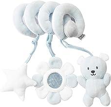 JINJIANG Juguetes Colgantes Espiral de Animales para Bebé Infantil Juguete Colgando en la Cuna con Peluches Coloridos Espirales para Cochecito Carrito niños niñas (Osito Azul)